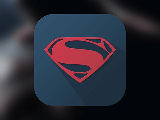 Superman Logo - Long Shadow Design