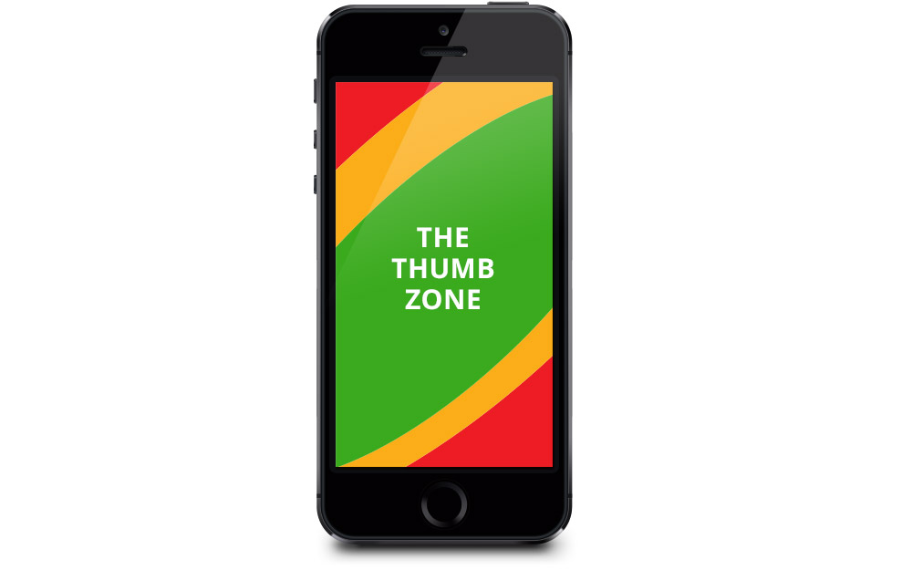 Mobile Usability Design Patterns - The Thumb Zone