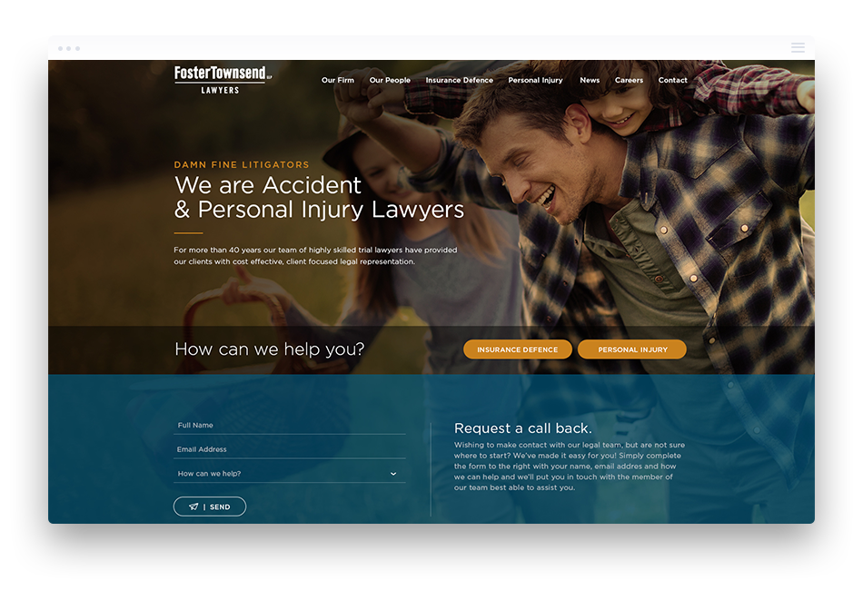 WordPress Web Design for Law Firms