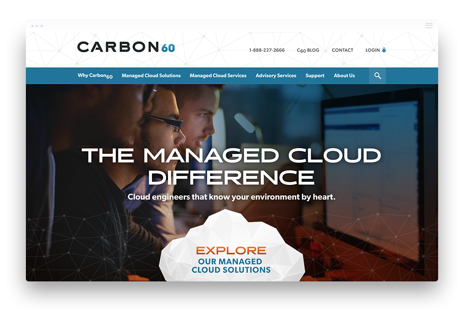 B2B Web Design Case Study for Carbon60