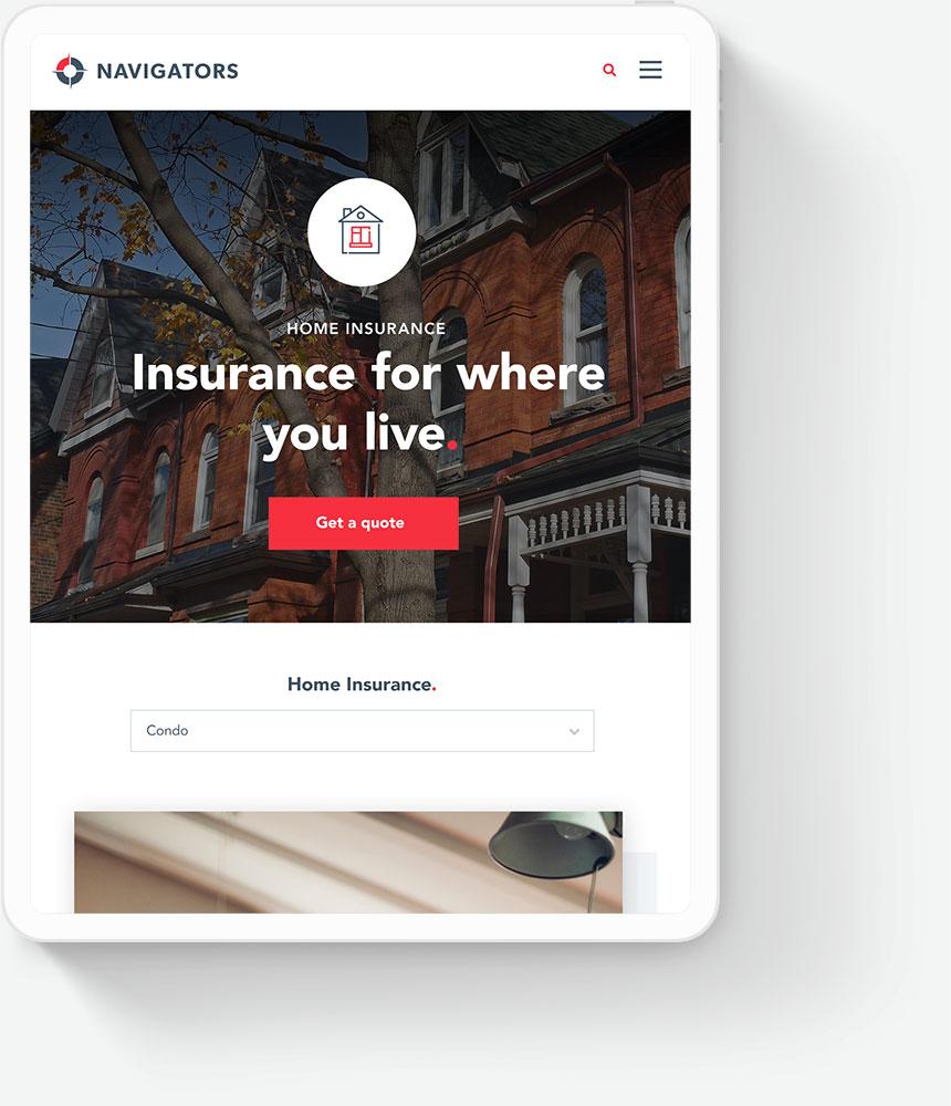 Responsive Web Design for Insurance Companies - Navigations Insurance