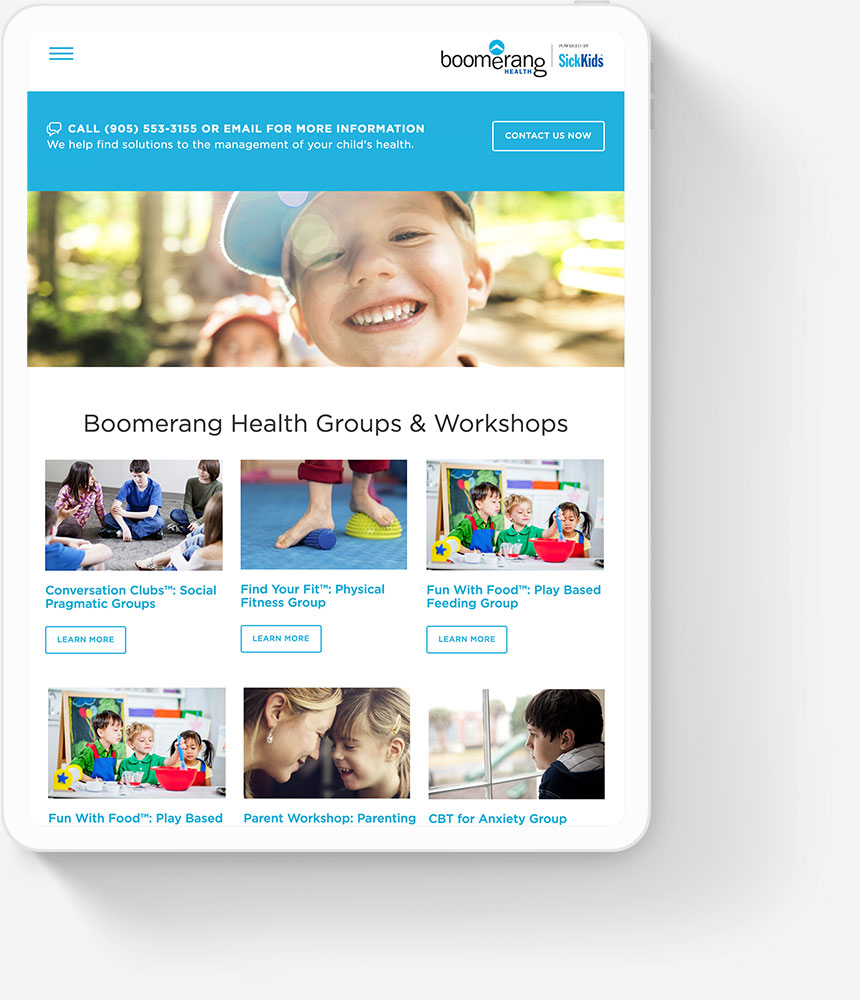 Responsive Website Design for SickKids