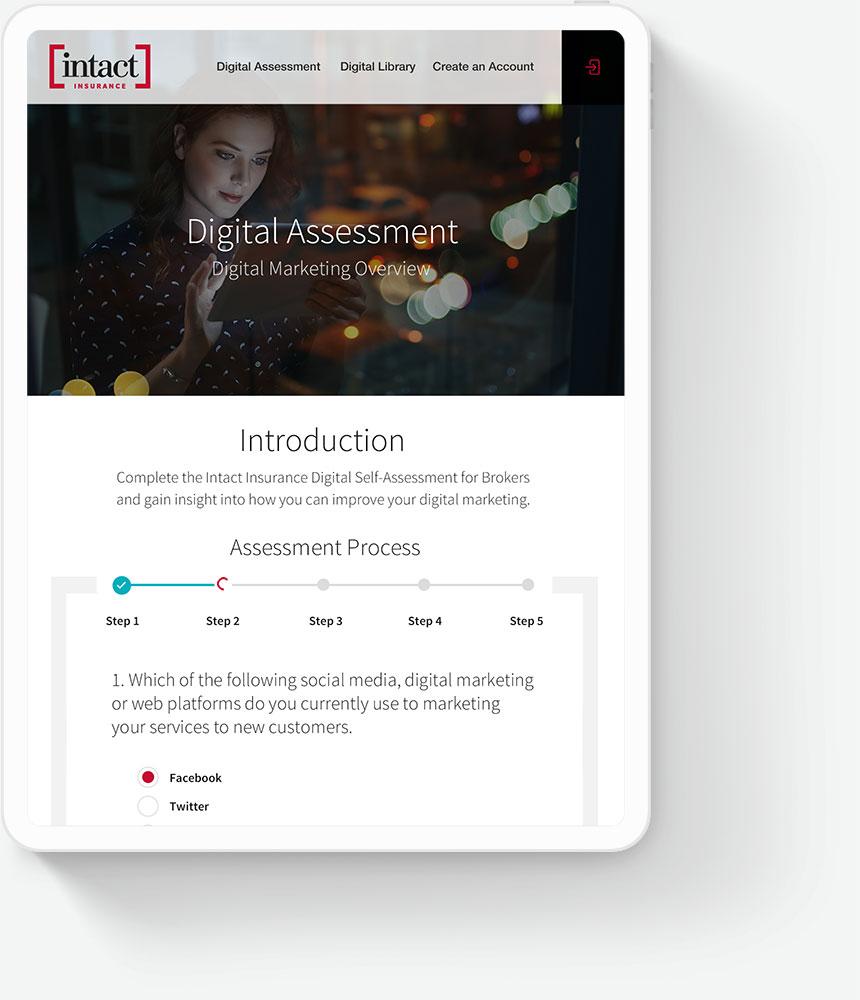 Custom Web Portal Design for Insurance Companies - Intact Insurance
