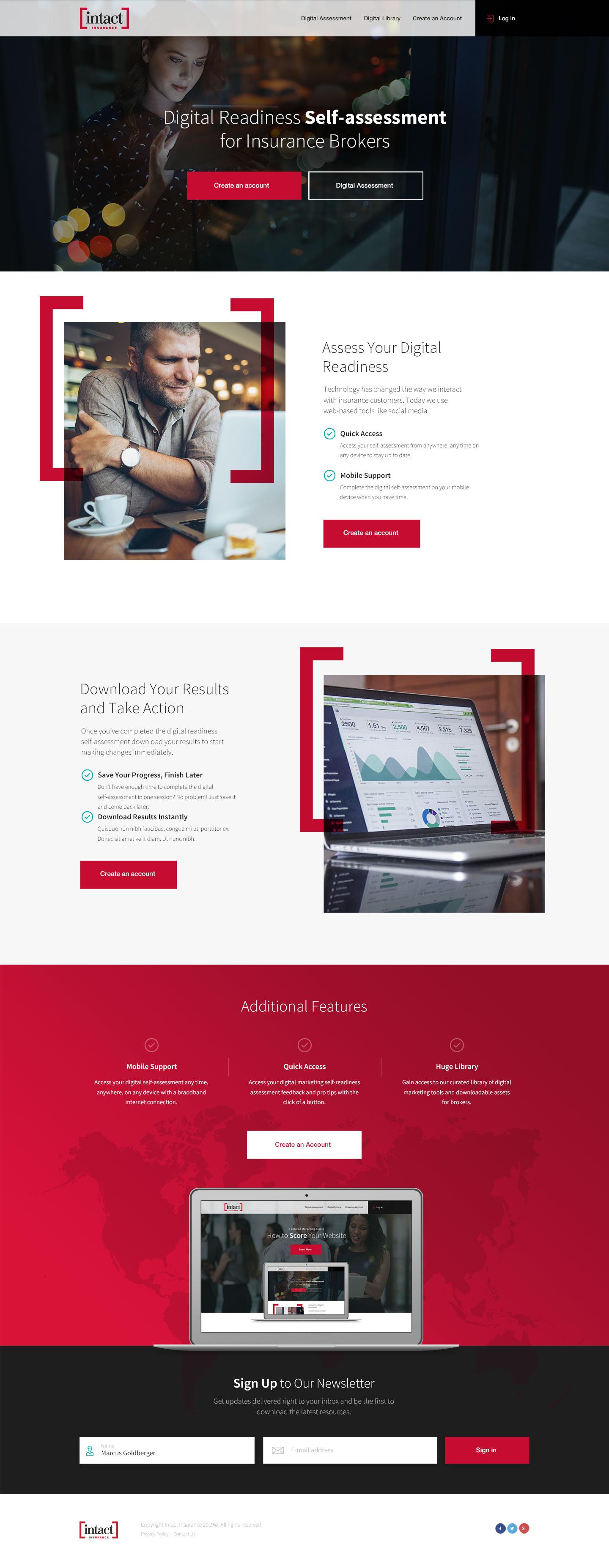 Website Design for Intact Insurance