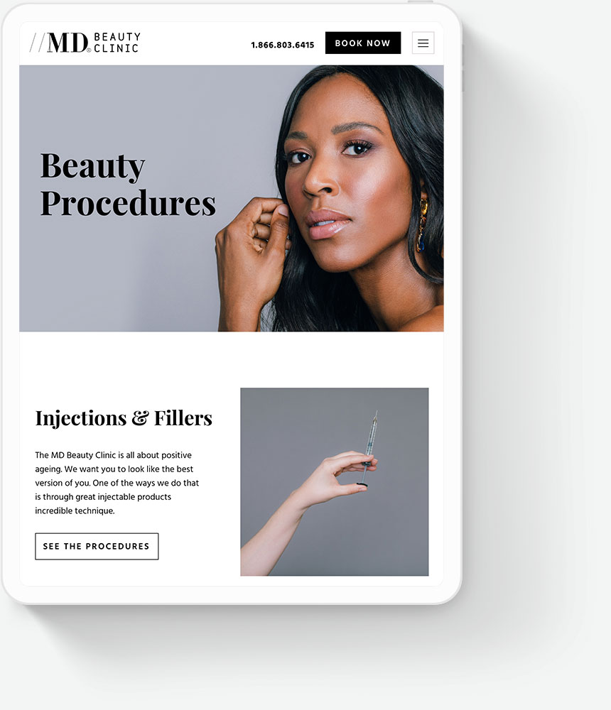 Responsive Web Design for MD Beauty Clinic