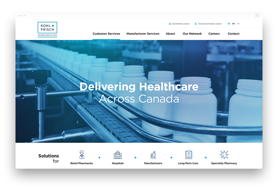Web Design for Manufacturing Companies - Kohl & Frisch Ltd.