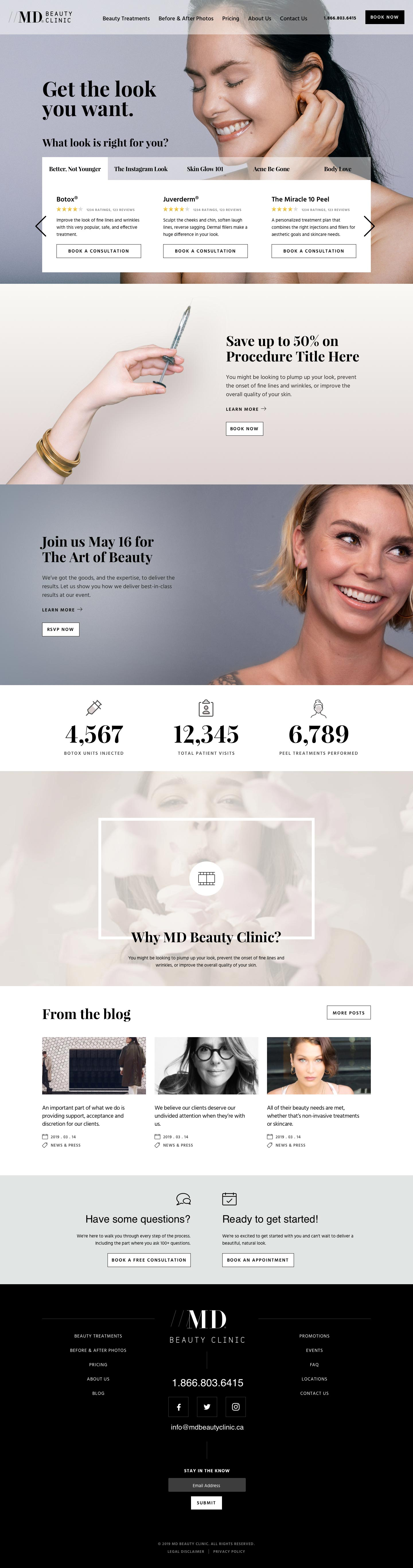 Website Design for Medical Clinic in Toronto - MD Beauty Clinic