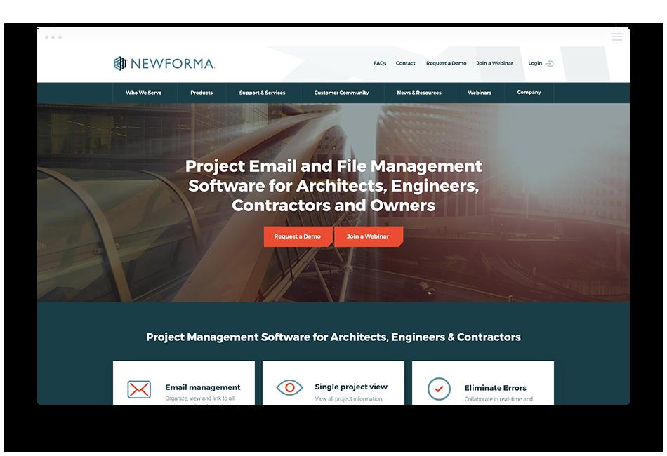 Website Design Software Companies - Newforma
