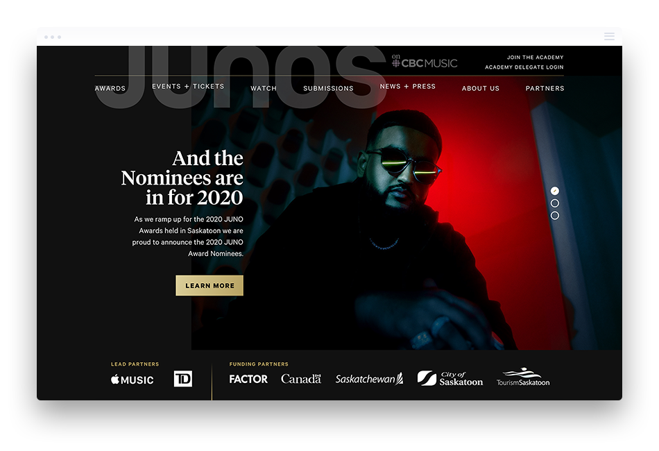 JUNOS Website Design