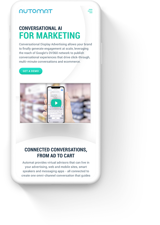 Mobile Website Design for B2B AI Companies
