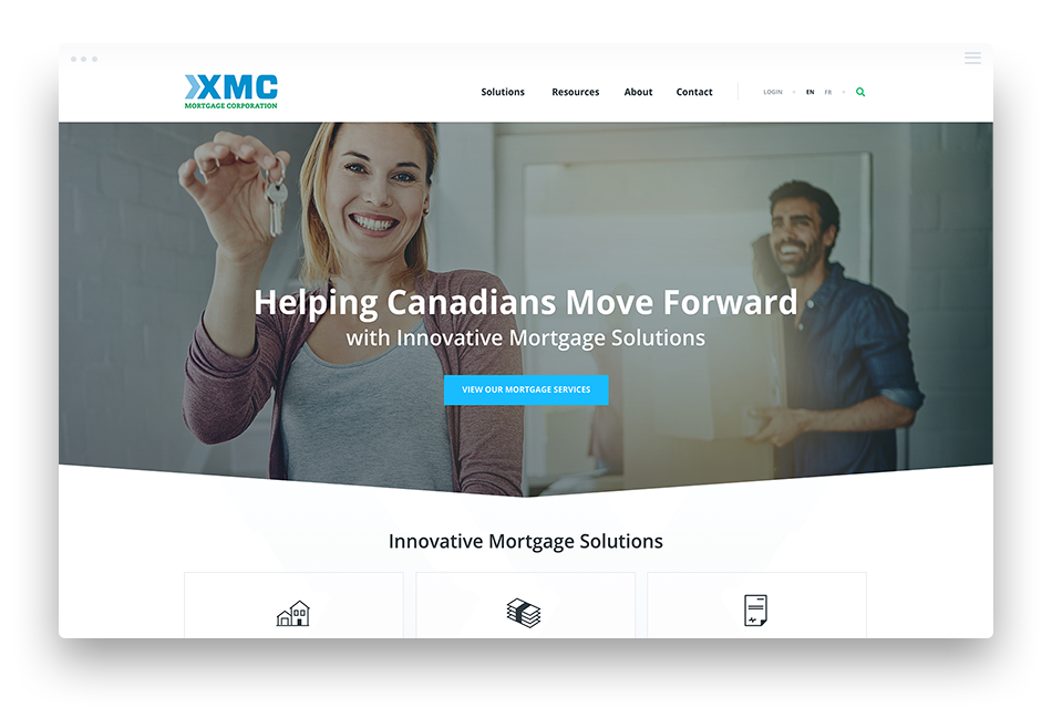 Website Design for Financial Institutions – XMC Mortgage Corporation