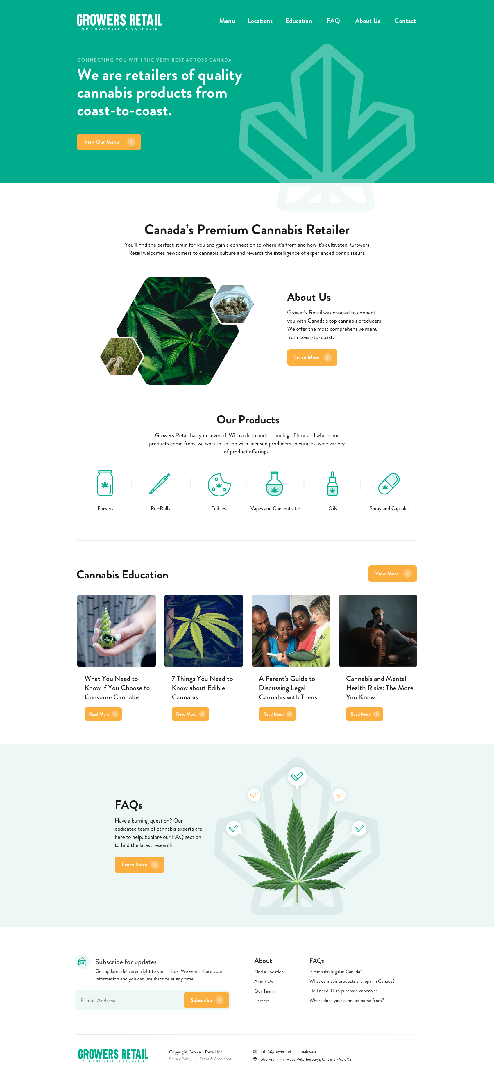 Cannabis Company Web Design