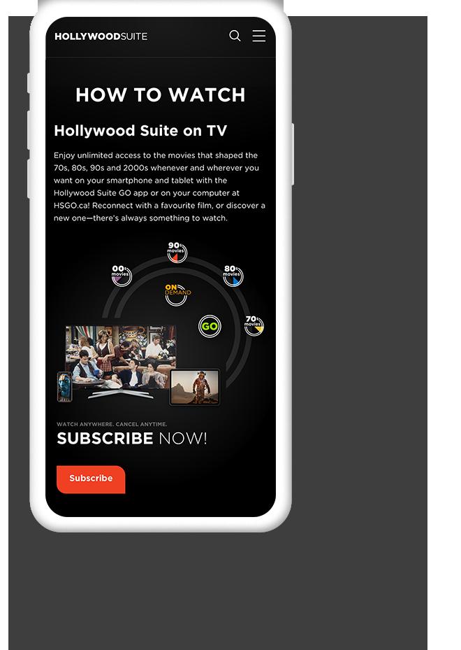 Mobile Web Design for TV Entertainment