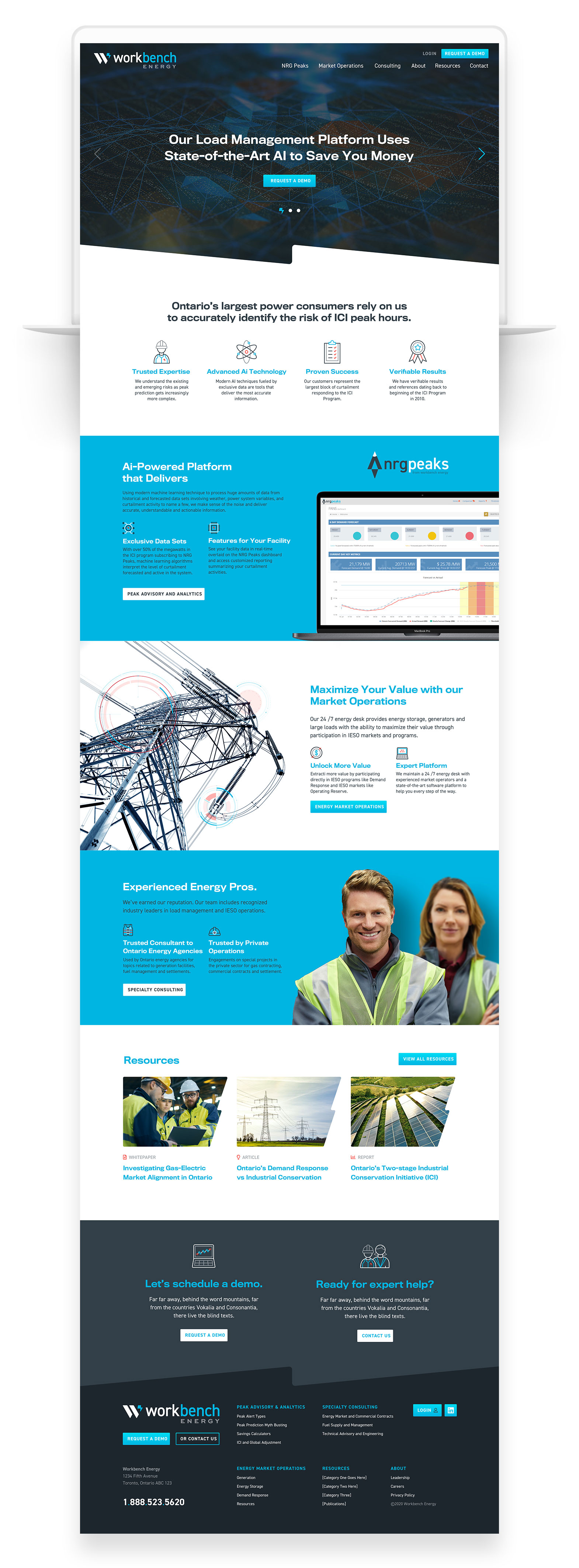 Web Design & Development for Industrial Companies - Workbench Energy