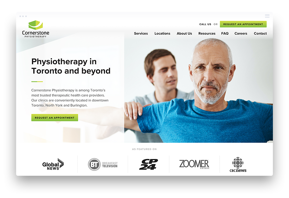 Custom Physical Therapy Clinic Web Design