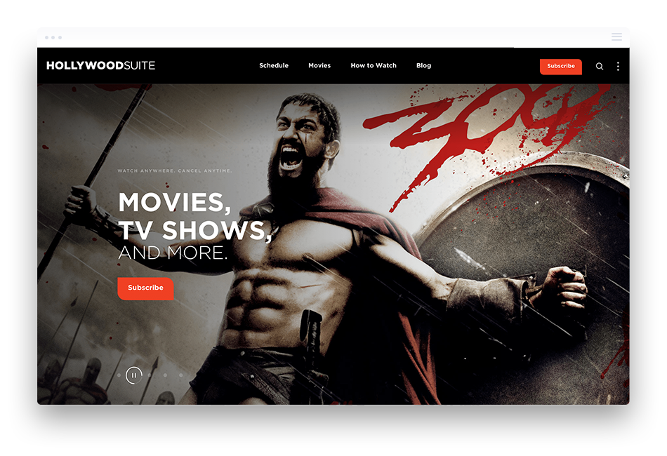 Website Design for Entertainment Providers - Hollywood Suite