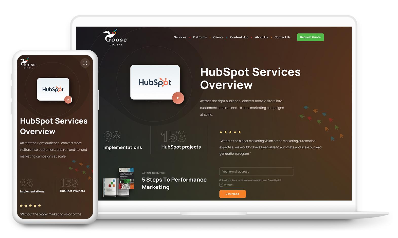 B2B Web Design for Goose Digital