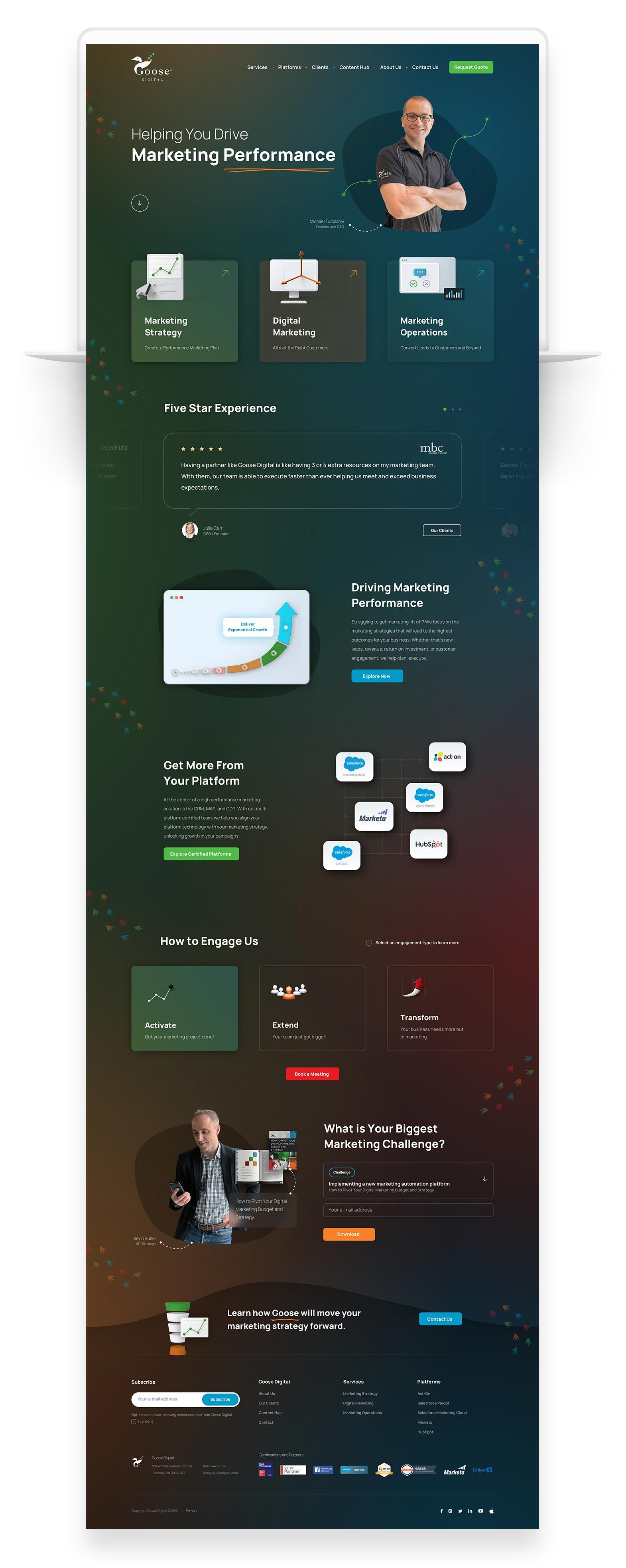 Custom Website Design for Goose Digital